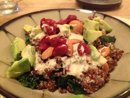 Red Quinoa Lacinato Kale Salad - www.rawgirltoxicworld.com