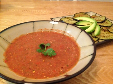 eggplant and gazpacho